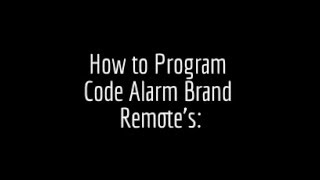 how to program a code alarm remote and older ford code alarm remotes
