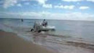 Sealegs entering water -
