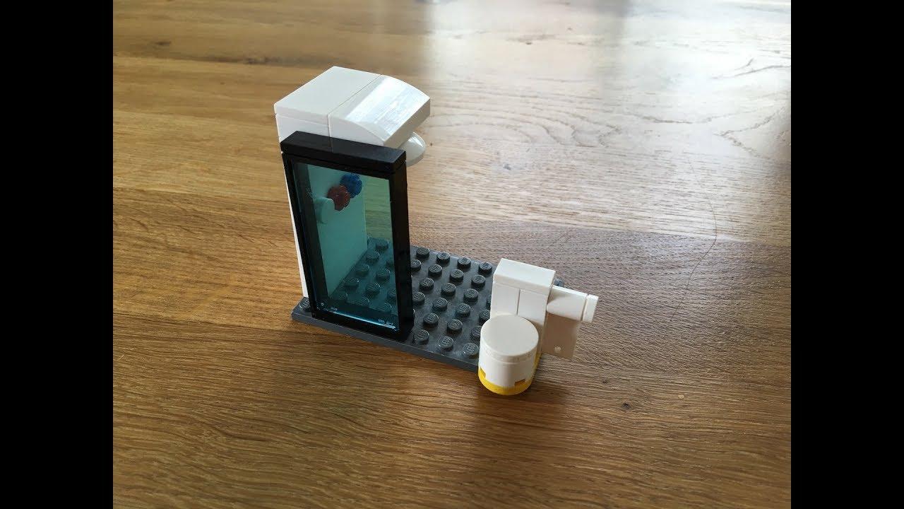 lego möbel nachbauen mit tom #004 - toilette und dusche - youtube