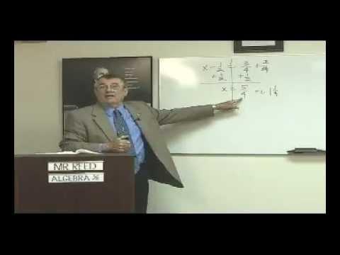 Art Reed and John Saxon's Algebra 1/2, 3rd Ed, Lesson 40