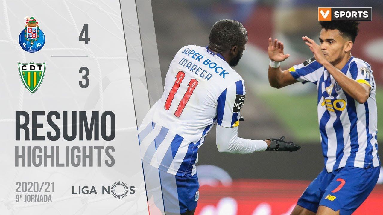 Highlights Resumo Fc Porto 4 3 Tondela Liga 20 21 9 Youtube