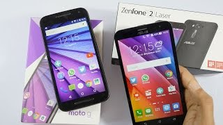 Moto G3 3rd Gen vs Asus Zenfone 2 Laser Compared