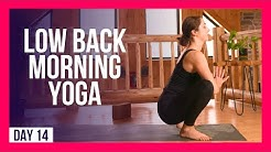 10 min Yoga For Lower Back Pain Release - Day #14 (LOWER BACK MORNING YOGA STRETCHES)