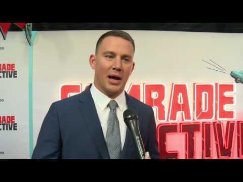 Channing Tatum, Jenna Dewan Tatum, Joseph Gordon-Levitt Comrade Detective Premiere interview