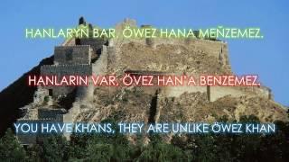 Meňzemez- Köroğlu Türkmen Türküsü Türkçe altyazılı. Turkmen Song- English Subtitles. Türkmen aýdymy