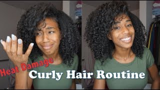 Curly Hair Routine| Heat Damaged Hair| Finesse the curls!