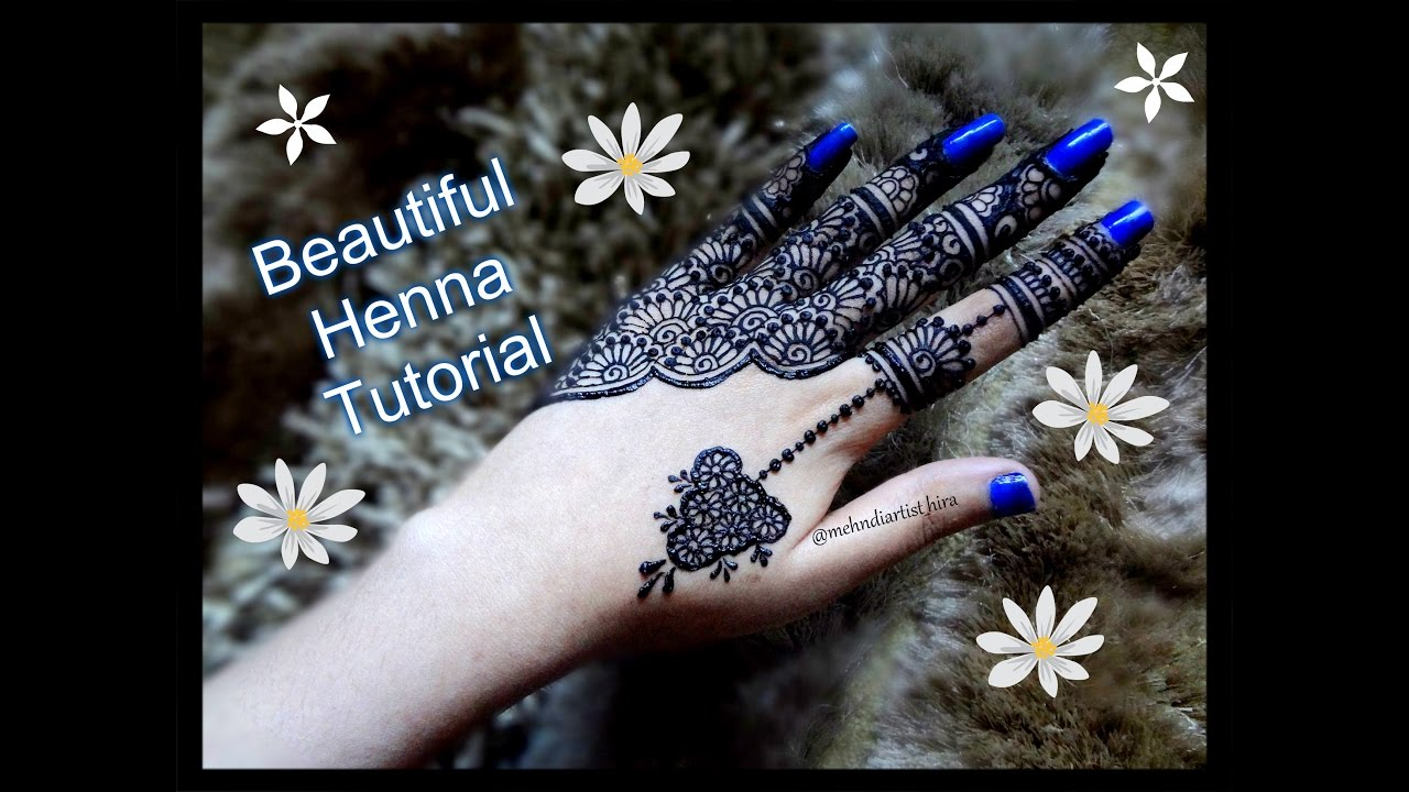 Latest mehndi designs 2016 2017 top 47 mehndi styles - How To Apply Easy Simple Henna Mehndi Designs For Hands Tutorial For Eid Weddings Youtube