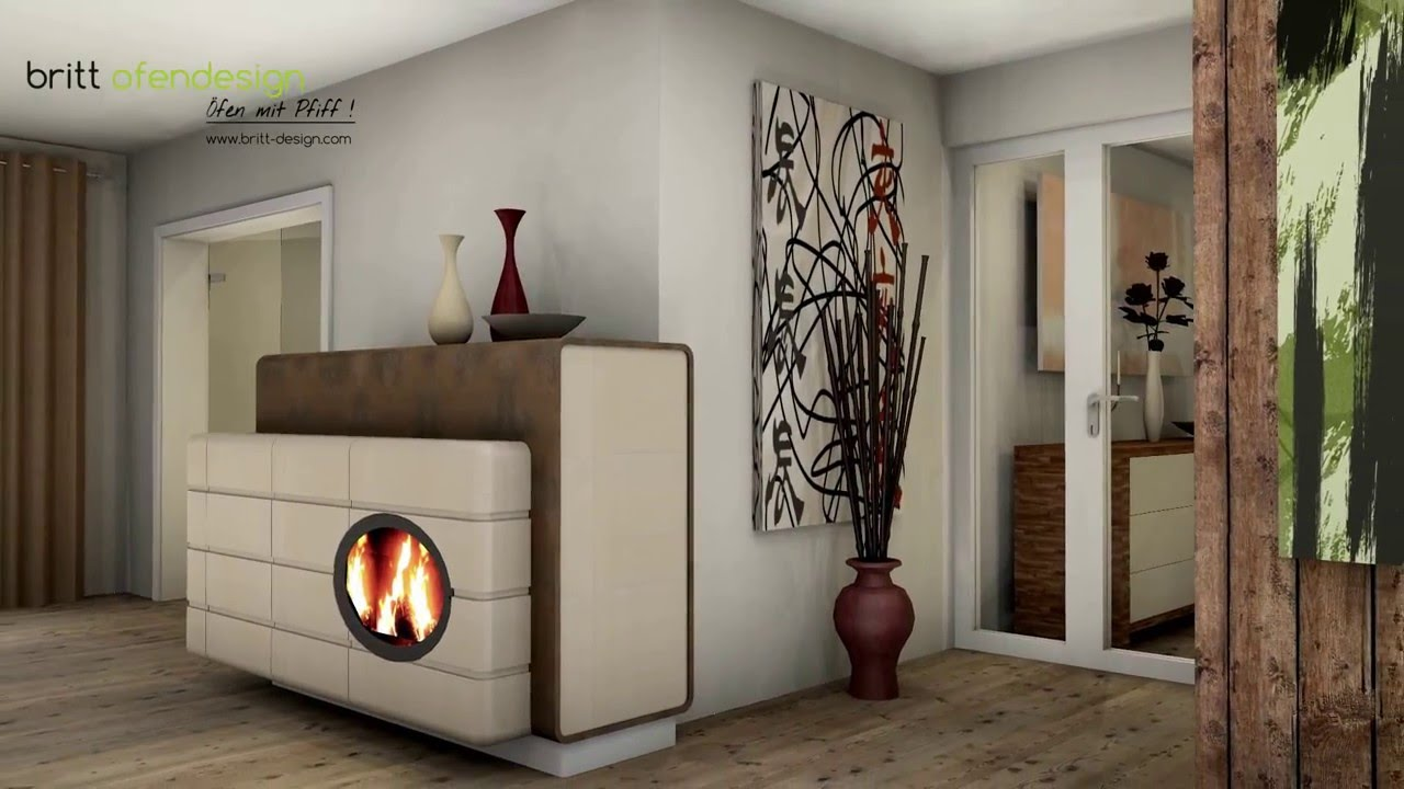 037 britt ofendesign fireplacedesign kachelofen modern tiled stove contemporary youtube. Black Bedroom Furniture Sets. Home Design Ideas