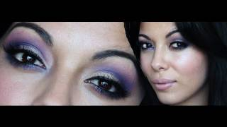 purple glitter prom makeup tutorial w bh cosmetics 120 color palette