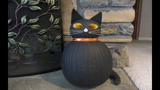 How to make a Pumpkin Black Cat