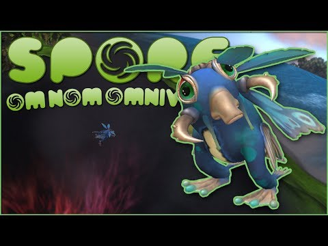 Flying Over Purple Volcanoes?! ☄️ Spore: OM NOM OMNIVORE!! - Episode #6