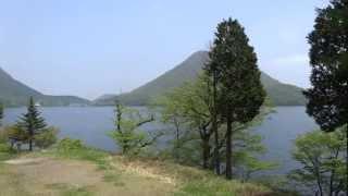 榛名富士と榛名湖 群馬県榛名町