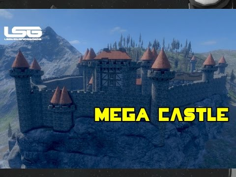 Medieval Engineers Mega Castle Under Construction Youtube