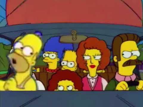 Homer Put Sugar Do Do Do Tape In Flanders Car Youtube