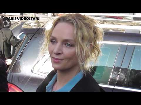 VIDEO Uma THURMAN @ Paris 27 february 2019 Fashion Week show Lanvin