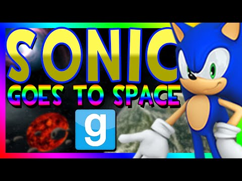 SONIC THE HEDGEHOG GOES TO SPACE | Gmod Space Race (Sonic Character Model)