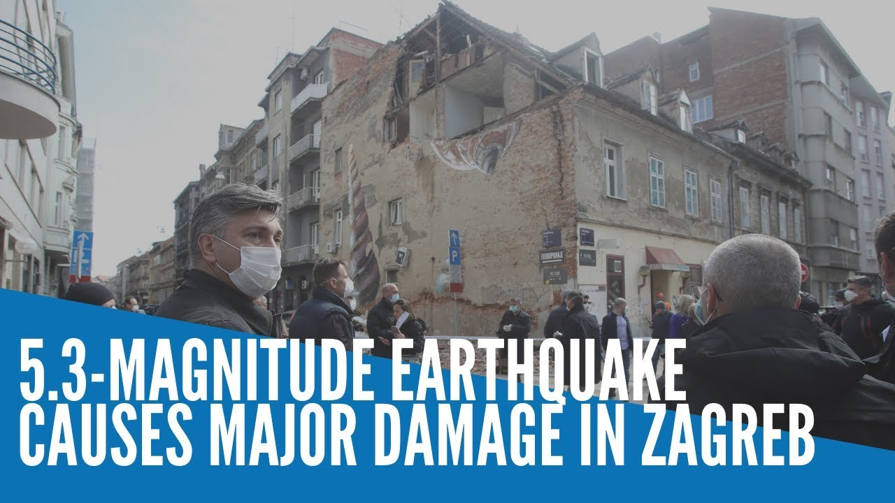 Powerful Quake Damages Buildings In Croatia Capital Youtube