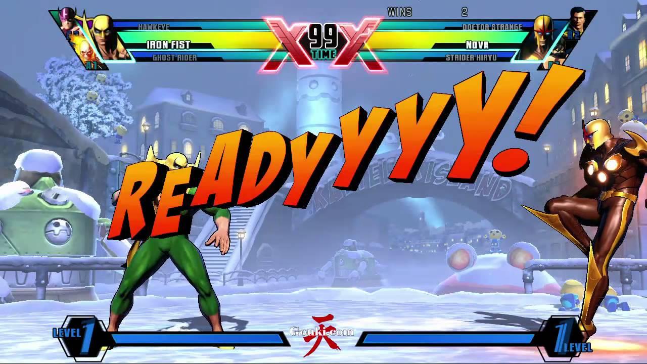 Ghost Rider Iron Fist Hawkeye Vs Strider Nova Doctor Strange Marvel Capcom Infinite Reg 3 Youtube