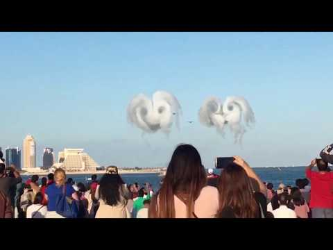 Qatar national Day Airshow 2017 - Ariel Show Doha Qatar -Visit Qatar - Attractions