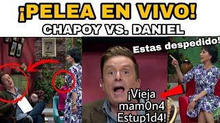 Paty Chapoy y  DANIEL BISOGNO PEL3A en VIVO y daniel dice GR...