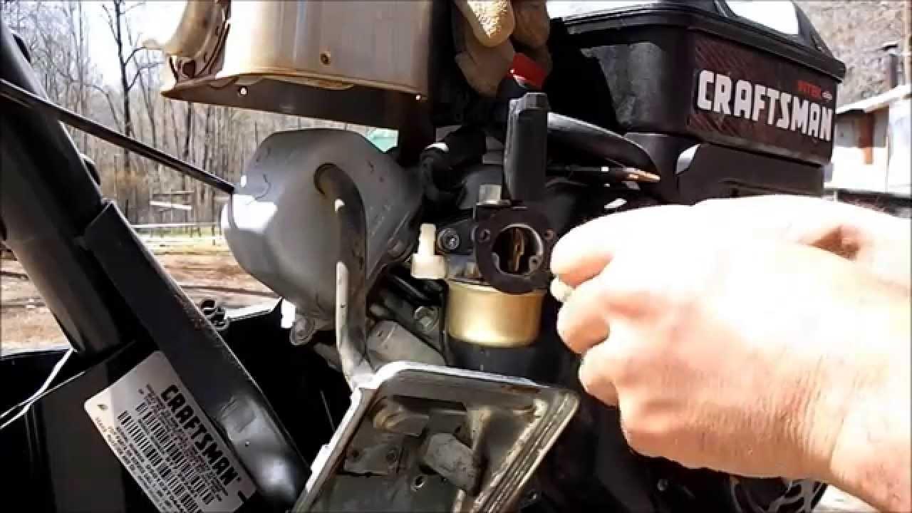 cleaning rototiller carburetor so it runs better [ 1280 x 720 Pixel ]