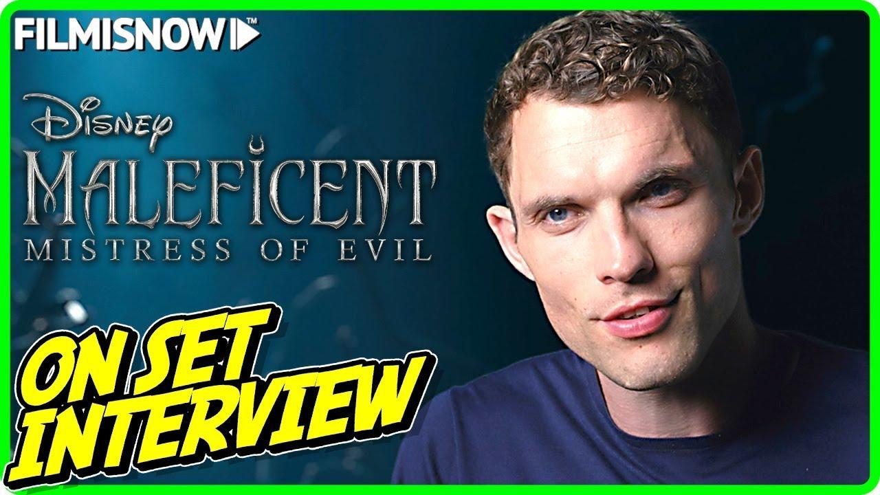 Maleficent Mistress Of Evil Ed Skrein Borra On Set Interview