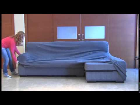Como poner la funda elastica chaise longue youtube - Fundas de sofa con chaise longue ...
