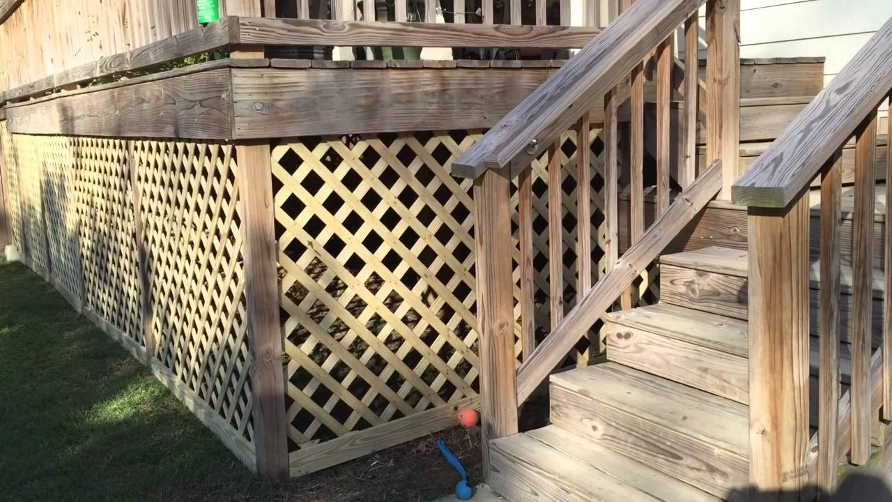 How To Build A Lattice Around The Deck Youtube