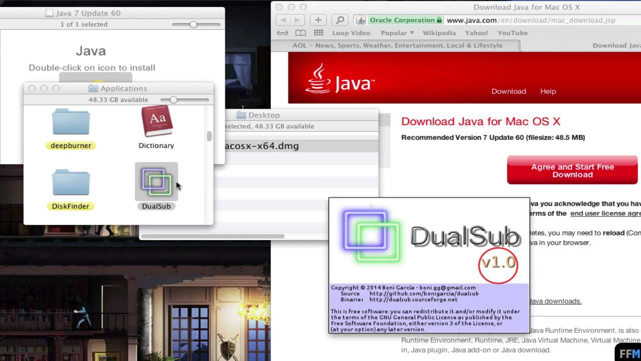 Load Java Runtime, Open  JNLP & Set Security Level for Java Apps (Mac)