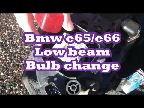 Low beam bulb  light change BMW E65 & E66