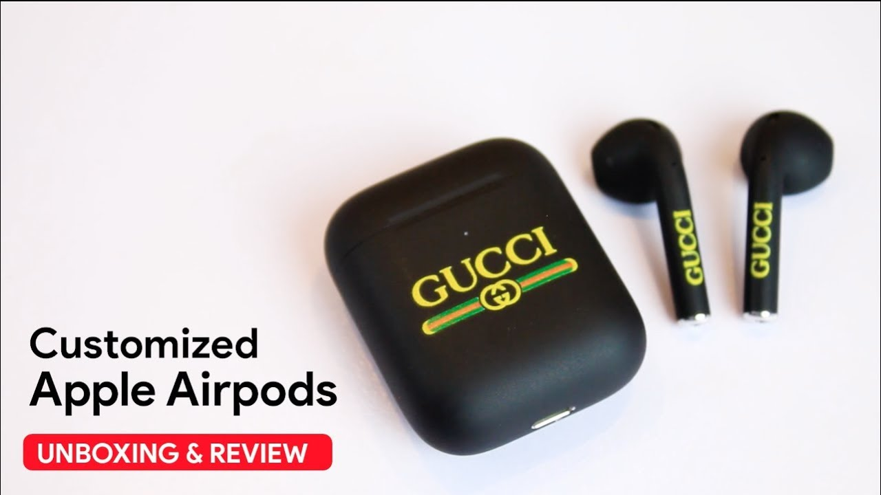 customized airpods case gucci