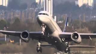 Máy bay cất cánh loạng choạng trong gió cực mạnh