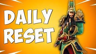 NEW GUAN YU SKIN - Fortnite Daily Reset NEW Items in Item Shop