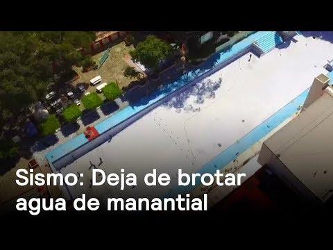 Dejan de brotar las aguas de manantial en Morelos - sismo - En Punto con Denise Maerker