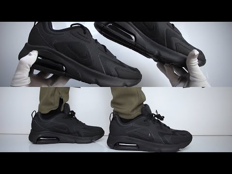 👟nike-air-max-200-'triple-black'-(sneaker-review)---unboxing-&-on-feet