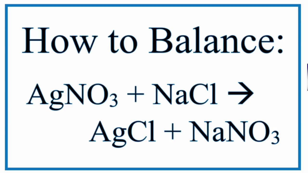 AgNO3 + NaCl = AgCl + NaNO3 (Silver Nitrate and Sodium Chloride)