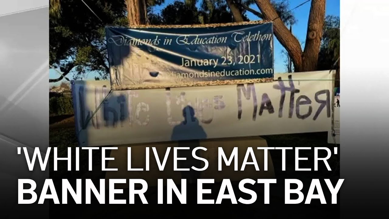 Racist 'White Lives Matter' Banner Discovered in Union City Removed Immediately 1/17/21