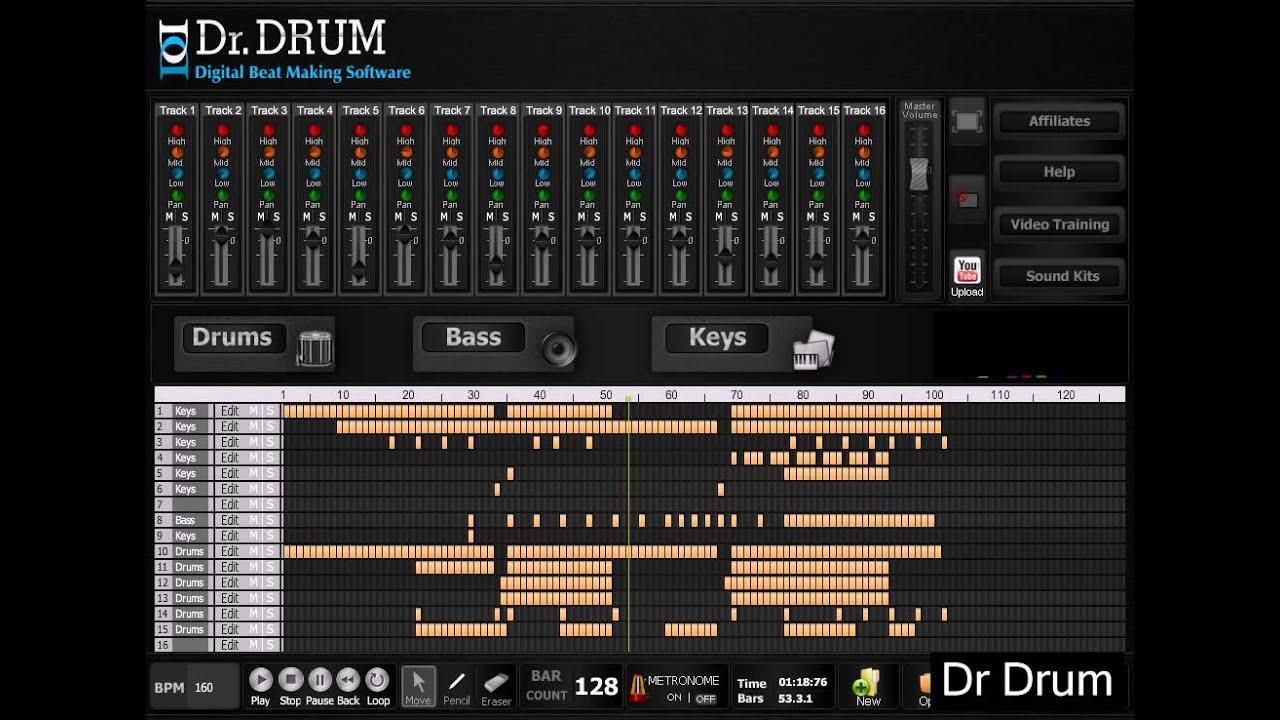dr drum digital beat making software free