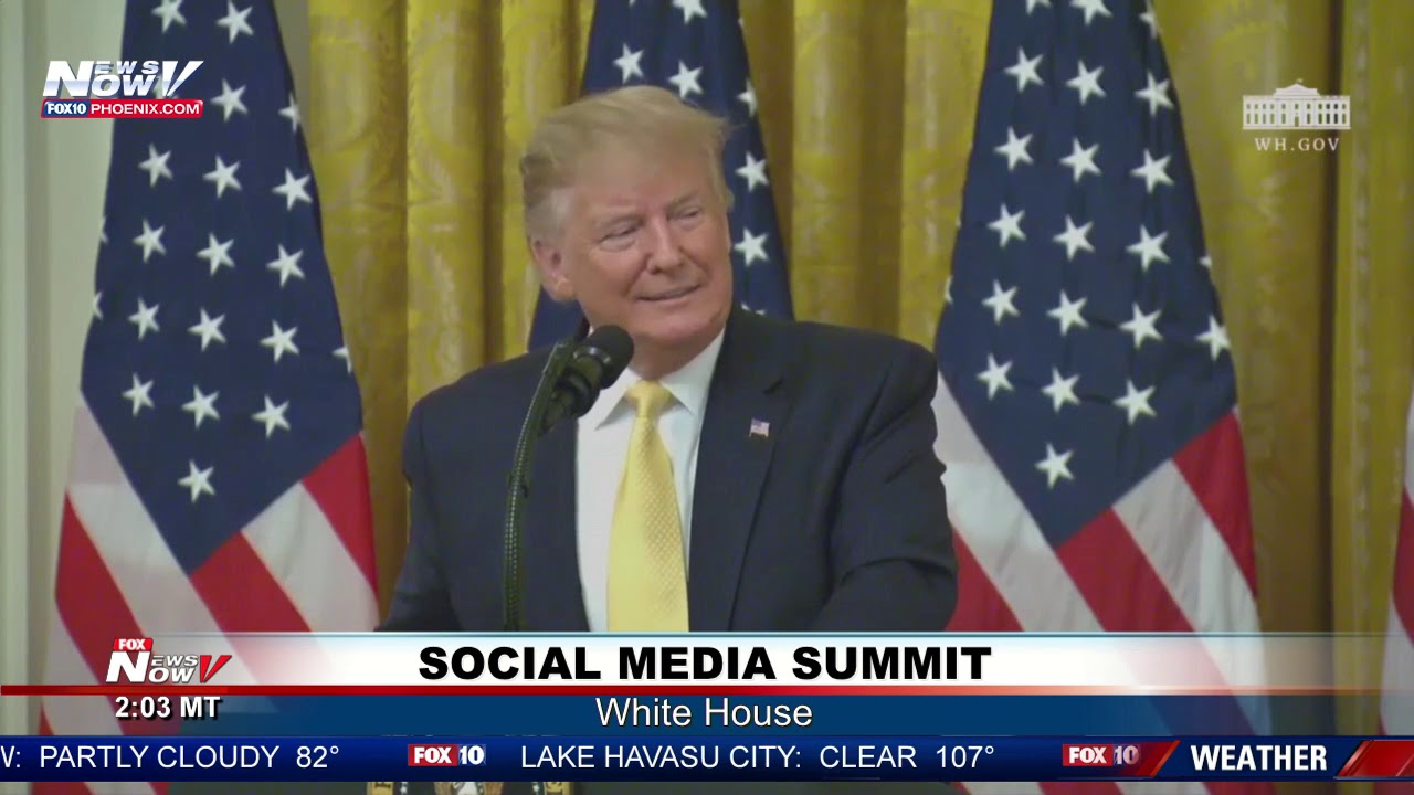 "SOCIAL MEDIA SUMMIT: President Trump BLASTS ""FAKE NEWS"" Content"