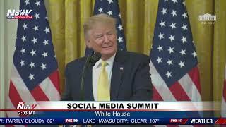 "SOCIAL MEDIA SUMMIT: President Trump BLASTS ""FAKE NEWS"" Content"