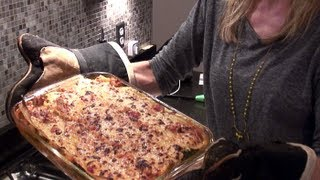 Healthy Lasagna Recipe ~ Turkey, Spinach, & White Beans