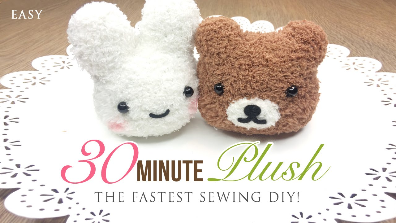 The Fastest Plushie Diy Ever Make An Adorable Toy In Just 30 Minutes You