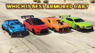 GTA 5 ONLINE : KURUMA VS PARAGON R VS DUKE O DEATH VS ZR 380 (WHICH IS BEST ARMORED CAR?)
