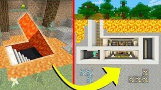 Minecraft Tutorial: How To Build a Hidden Base #2 With a Hidden Entrance