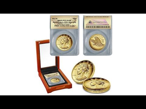 2017 PR70 ANACS American Liberty 24K Gold Coin