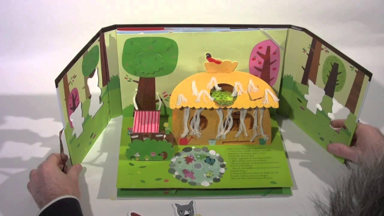 pop up les trois petits cochons youtube. Black Bedroom Furniture Sets. Home Design Ideas