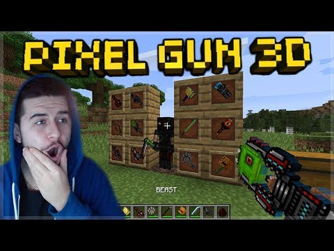 PIXEL GUN 3D WEAPONS IN MINECRAFT! - SUPER COOL PIXEL GUN 3D MINECRAFT MOD!