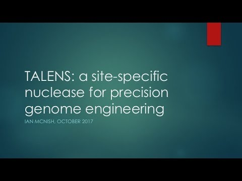 TALENS: a site-specific nuclease for precision genome engineering