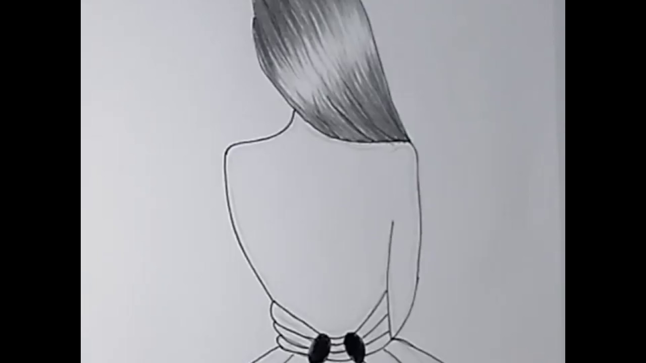 تعلم رسم بنات رسم سهل تعليم رسم بنات بقلم الرصاص رسم بنات سهل
