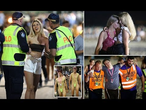 Schoolies teenagers looking worse for wear after night one